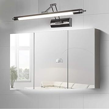SXFYWYM LED Espejo Faro Moderno Minimalista Espejo Luces retráctil baño Espejo Armario Luces,White,64cm: Amazon.es: Hogar