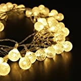 Bangcool 16.5ft 50 LED Globe String Lights House Party String Lights for Christmas Party Warm White