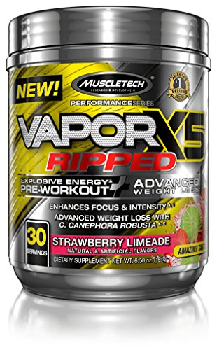 MuscleTech VaporX5 Preworkout Strawberry servings
