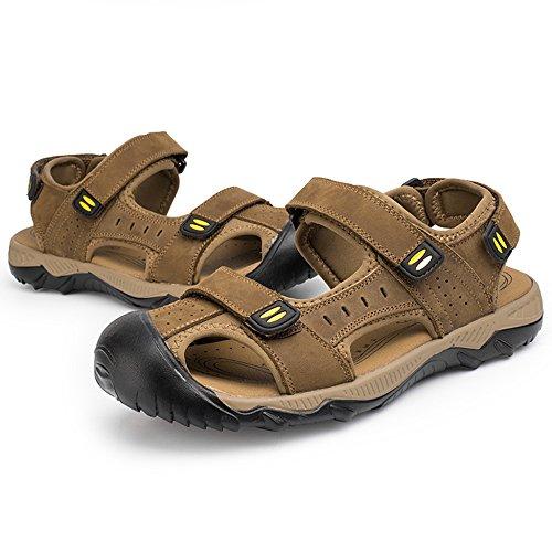 DSFGHE Cuoio 48 Scarpe Large Pattini Yellow L'esterno Uomo Size Sport Uomo della Toe Sandali Closed per Extra 38 di di Reali Spiaggia Escursionismo Estate Sandali r0Aagqrx