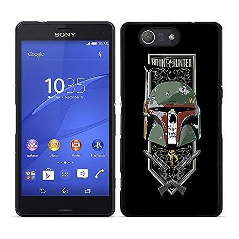 Funda carcasa para Sony Xperia Z3 Compact diseño Boba fondo negro SWV borde negro
