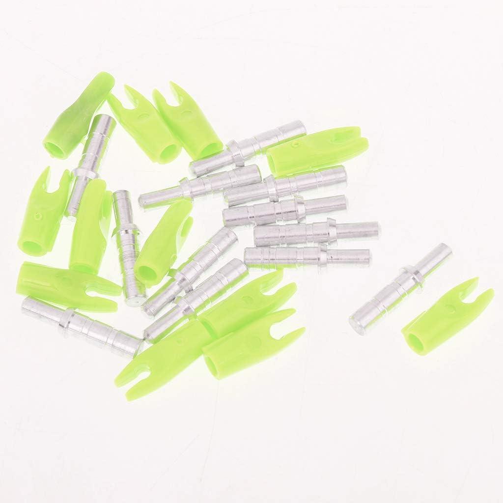 IPOTCH 12 Piezas De Colores 33 Mm Pl/ástico Tiro con Archero Precisi/ón Nocks para ID 4.2 Mm Flecha Eje Universal