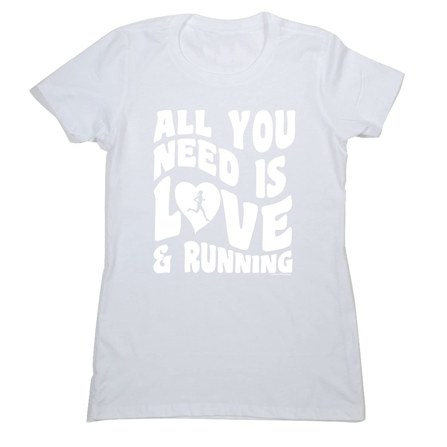 Women's Everyday Runners Tee - All You Need Is Love And Running