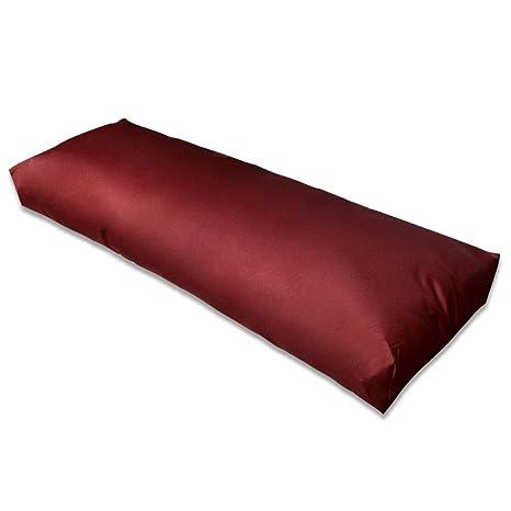 vidaXL Cojín de Respaldo Silla Tapizado Rojo Vino Tinto Asiento Comedor Jardín