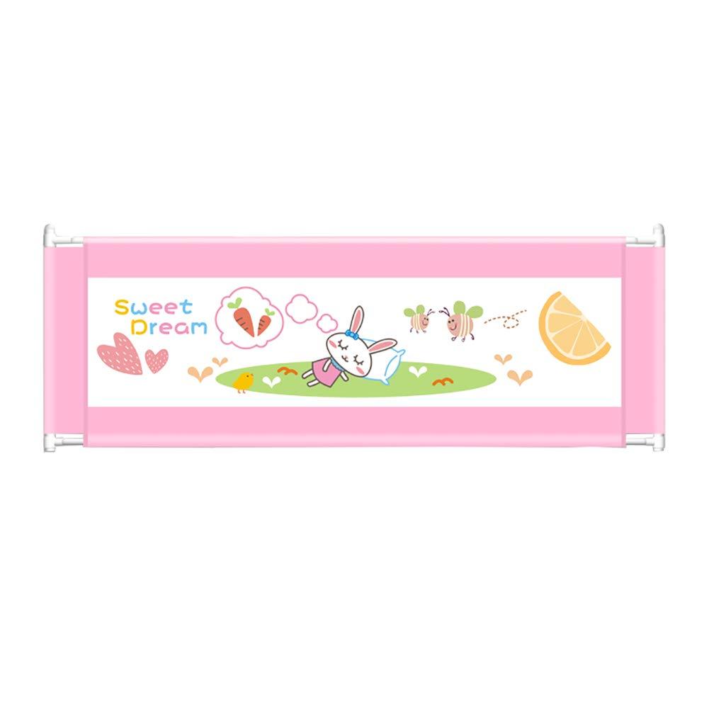 ベッドフェンス 赤ちゃんのためのベッドレール、折りたたみ式折りたたみベッドレール安全保護幼児の赤ちゃんと子供のためのガード(ピンク) (サイズ さいず : Length 180cm) Length 180cm  B07K84HHDL