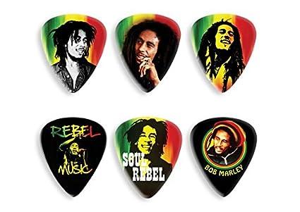 Amazon.com: Lata 6 Púas Dunlop Bob Marley BOB - PT24 ...