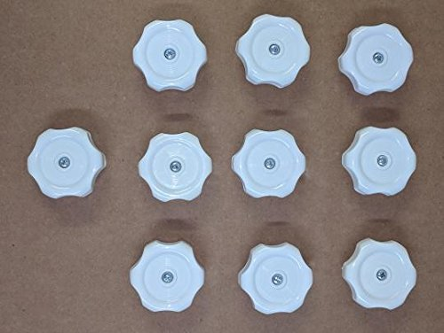 10 Each-RV Mobile Home Plastic Window Crank Handles White Round 1/4'' Shaft #743 by MHRV (Image #4)
