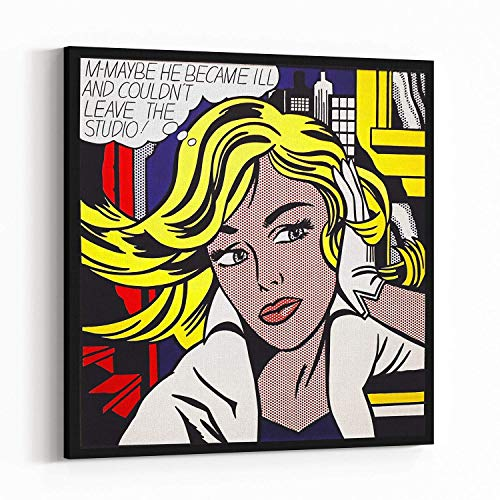 (Wall Covering Canvas Print Poster - Pop Art, Roy Lichtenstein style French, Vintage, Art Deco 1097)