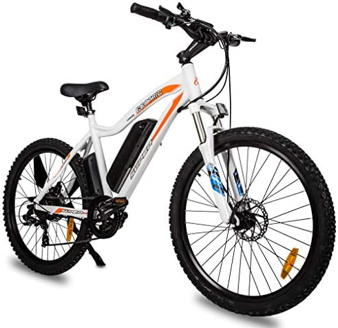 ECOTRIC Mountain EBike Electric Bicycle White Bike 26 Alloy Frame with 500W Powerful Motor 36V 13Ah Lithium Suspension Fork