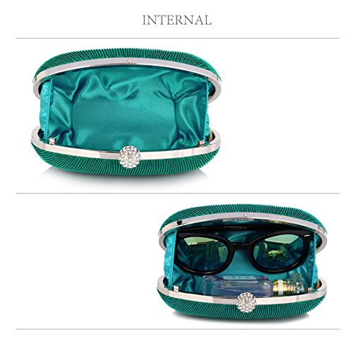 Quality Hard CWE00315 CWE0092 Handbag Satin Ladies Designer CWE0092 CWE0093 Cross Women's Bags Wedding Case Evening Crystal Fashion Bag Clutch Turquoise Rouched Body Rq06wHB