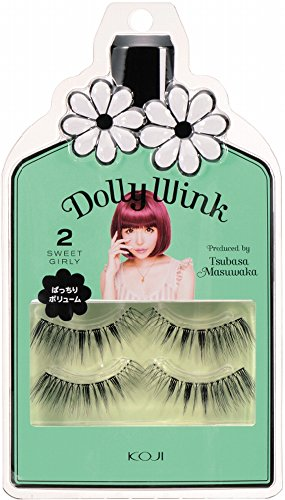 Dolly Wink Koji Eyelashes by Tsubasa Masuwaka, Sweet Girly (Wink Lashes)