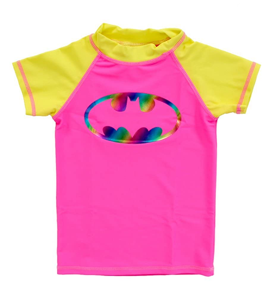 In Gear Girls Short Sleeve Batgirl Rashguard 12 Months to 8 Years.