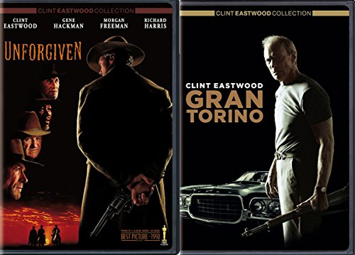 - Clint Eastwood Gran Torino & Unforgiven 2 Disc DVD Pack Movie Set