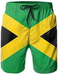 Jiger Personality Beach Shorts Trucks Pants Jamaican Flag with Lion Mens Swim Trunks Boardshort Beach Shorts