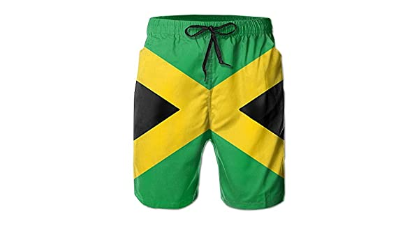 YongColer Mens Swim Trunks Quick Dry Beach Swim Shorts Jamaica Jamaican Flag Caribbean