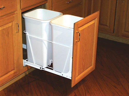 Rev A Shelf RV-18-PB-2-S WASTE PULLOUT with RV-DM-KIT DOOR MOUNT KIT