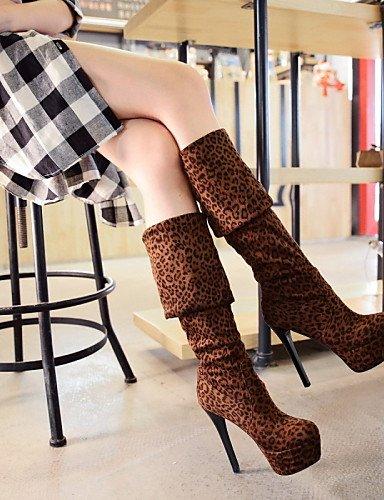 Plate pour Talon décontracté Femme Mode blanc Citior Forme Stiletto Chaussons Femme Chaussons de Bottes Chaussures pour 6pwX8