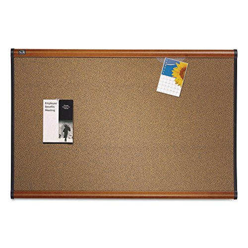 Quartet B243LC Bulletin Board, 3'x2', Light Cherry Frame