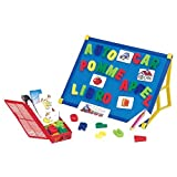 Wishtime Magnetic Letters Tabletop Easel Board Toddler Toys (2 IN 1 Functions)