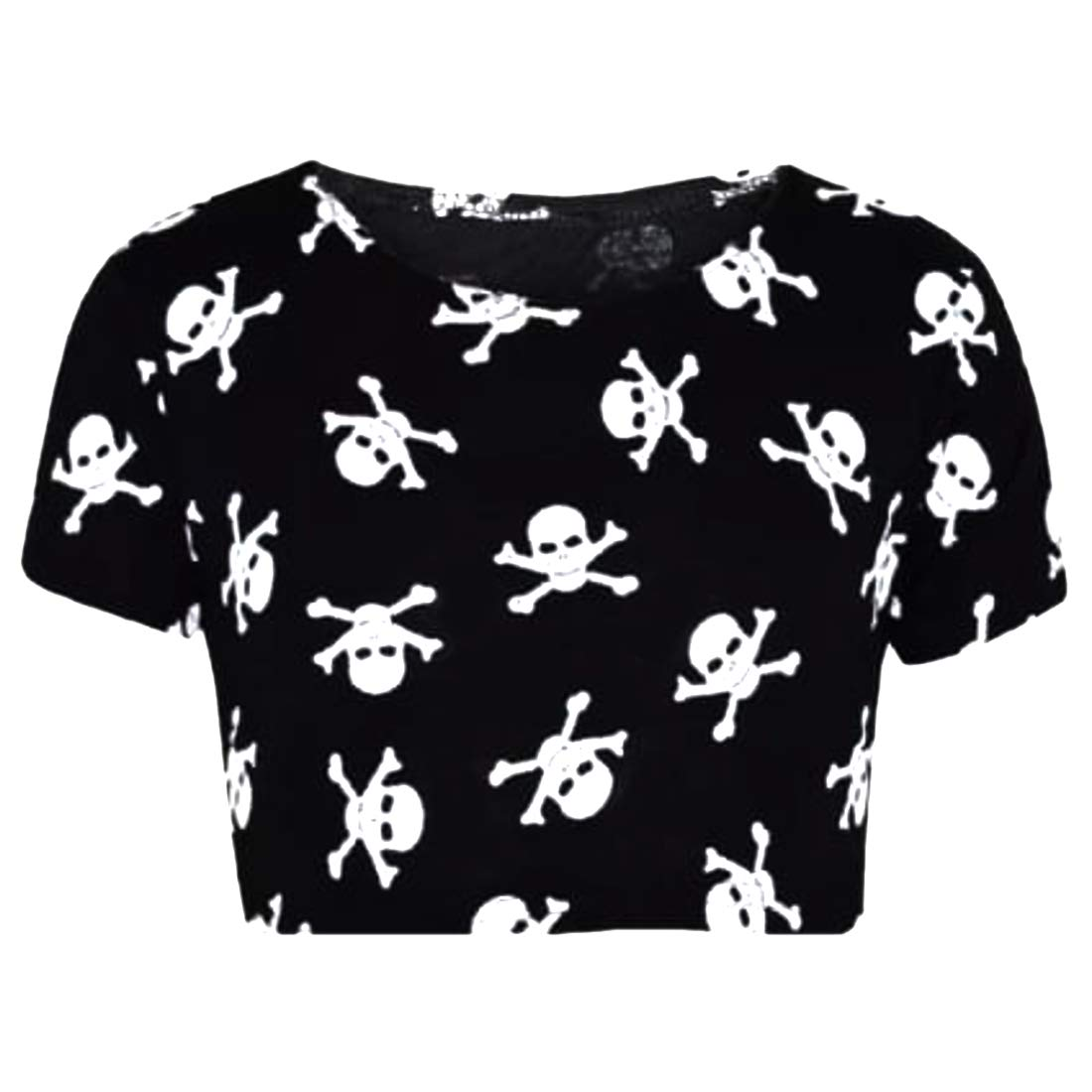 Aelstores Girls Halloween Costume Skull and Bones Print Cropped T-Shirt Leggings Set Swing Dress Jumpsuit Age Size 5-13 Years