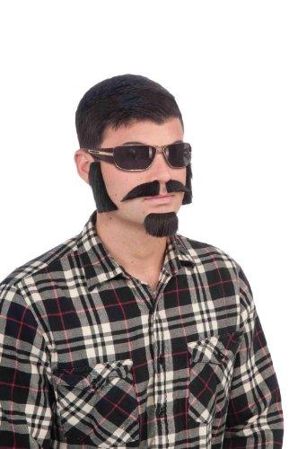 Forum Novelties Men's Facial Hair Disguise Kit, Black, One Size -