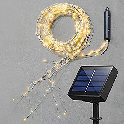 Soltuus Solar LED String Fairy Lights, Starry Copper String Lighting, Waterproof Watering Can Light