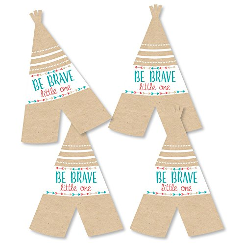 (Be Brave Little One - Teepee Decorations DIY Boho Tribal Baby Shower or Birthday Party Essentials - Set of)