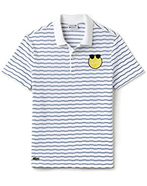 Men's Men's Yazbukey Polo T-Shirt With Patch in Size 6-XL White