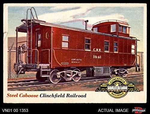 1955 Topps Rails & Sails # 9 Steel Caboose (Card) Dean's Cards 2 - GOOD (Rail Caboose)