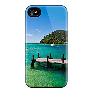 First-class Case Cover For Iphone 4/4s Dual Protection Cover Beautiful Lagoon