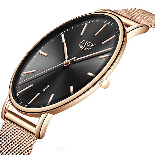 Couple Fashion Casual Watch Mens Womens Watches Top Brand LIGE Simple Waterproof Quartz Watch Classic Business Student Small Fresh Style Watches