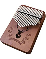 Lixada 17 Keys Kalimba African Thumb Finger Piano Wood Kalimba Portable Musical Instrument