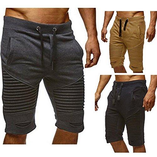 Casual Fitness Shorts Marron Été Pantalon 2xl Court Jogging Juleya Plier Sport Décontracté Poches Trous Pantacourt Bermuda M Homme qAPTfxYwO