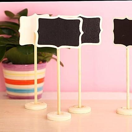Cool Mall - Juego de 10 pizarras de pizarra para decoración ...