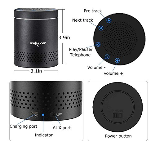 ZEALOT S15 Portable Bluetooth Speakers Home Kitchen