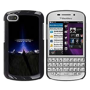 Caucho caso de Shell duro de la cubierta de accesorios de protección BY RAYDREAMMM - BlackBerry Q10 - Natural Paisaje Montaña Nieve