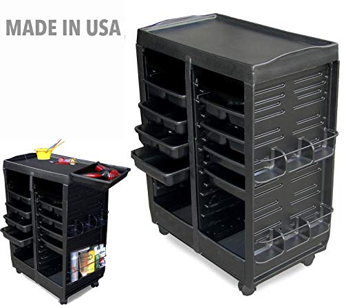 M113 FF Salon SPA Rollabout Trolley Cart Double Non Lockable Cabinets Made in USA by Dina Meri