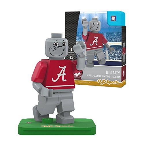 NCAA Alabama Crimson Tide Big Al Mascot Gen 2 Mini Figure, Small, Black by OYO