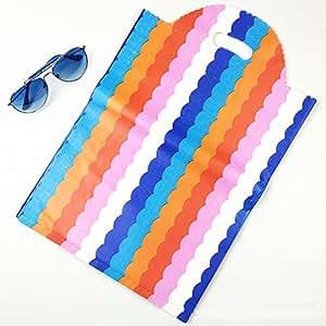 Amazon.com: JEWH Bolsas de plástico grandes – Colorful Wave ...