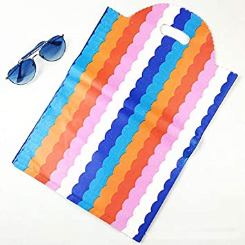 Amazon.com: JEWH Bolsas de plástico grandes – Colorful Wave ...