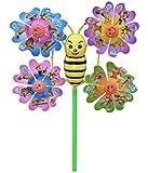 Windmill Wind Spinner Garden Yard Kid Gift (Honey bee)