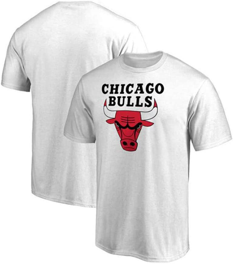 NENB Camiseta De NBA Chicago Bulls para Hombre Baloncesto Deportes Casual Versi/ón Suelta Camiseta Deportiva De Manga Corta