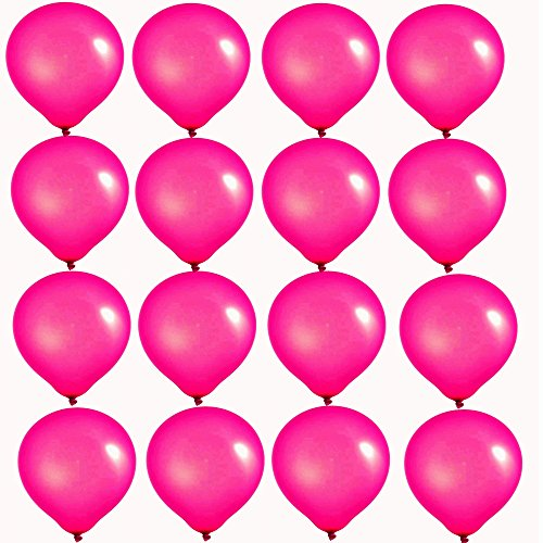 Elecrainbow 10 Inch Rose Red Balloons, Round Matte Balloons for Party Decoration, Birthday, Wedding, Holiday, Balloon Arch Modeling, Pack of ()