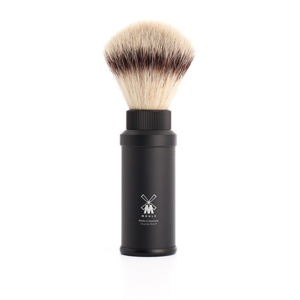 MÜHLE Travel Shaving Brush (Silvertip Fibre, Black)