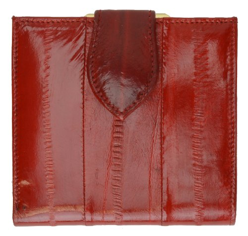 Purse Skin Eel (French Frame EEL Skin Leather Ladies Wallet #E573)