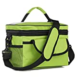 Mens Blocking Wallet Blocking Short Wallet - 28x17x18cm Oxford Lunch Tote Cooler Backpack Insulated Picnic Bag for Camping Travel - Green ( Blocking Wallet Case)