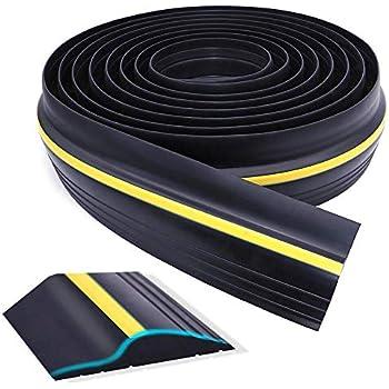 Universal Garage Door Threshold Seal, WEST BAY DIY Weather Stripping Bottom Rubber Waterproof 20 Feet Length (sealant not Included)