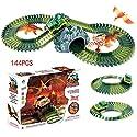 lingxuinfo 144pcs恐竜おもちゃSlot Car Raceトラックセット3恐竜( Dinosaur World Raceトラック)