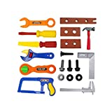 Toro Supply Co Kids 19 Piece Toy Tools Set Complete with Socket Wrench, Hammer, Plastic Saw, Plillips Screwdriver, Plastic File, Nuts and Bolts and More