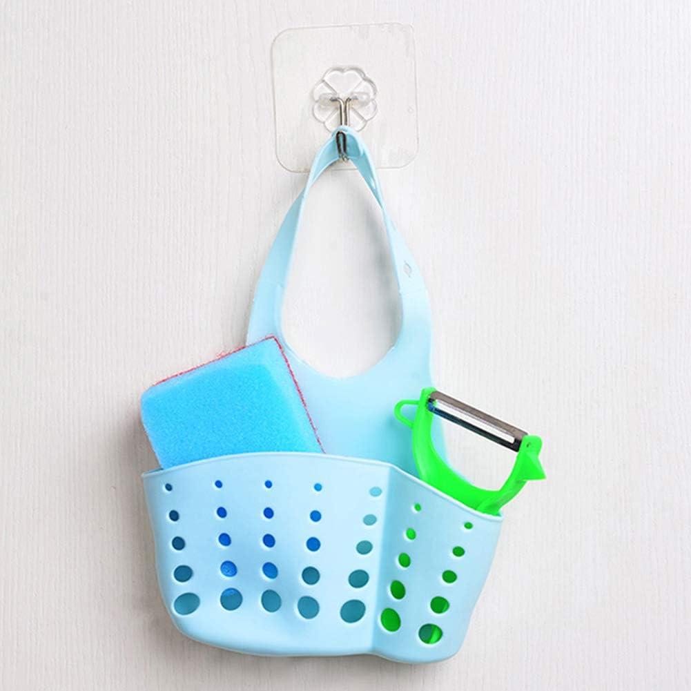 Portable Kitchen Hanging Drain Bag Kitchen Sundries Storage Basket Sink Holder Organizer Rack Blue blackbirdlee Hanging Drain Basket